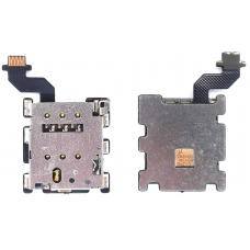 Шлейф коннектор Sim-карты HTC One M8