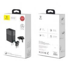 Сетевое зарядное устройство Baseus Duke Universal Travel 3 in 1 (CCALL-GJ01) 3 x USB (black)