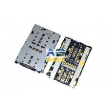 Коннектор SIM-карты (сим), mmc коннектор Meizu M2 (S162)