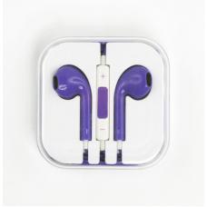 Гарнитура для iPhone/iPod и совместимые (сиреневая/коробка)