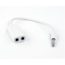 Переходник для наушников iPhone/iPod/iPad 3,5 мм. на 2 разъема 3,5 мм. (европакет)