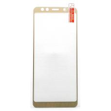 Защитное стекло полное Samsung Galaxy A8 2018 SM-A530 золотое