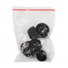Запасные силиконовые вкладыши 3 пары, S, M, XL (черные)