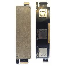 Шлейф коннектор Sim + карты памяти Asus ZenFone 6 A600CG (T00G)