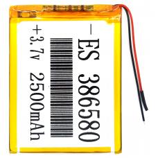 Аккумулятор Универсальный 3.8*65*80 mm 3.7v 2500mAh ( 386580P )