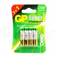 Батарейка GP Super LR03 AAA Alkaline 1.5V (4 шт. в блистере)