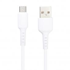 USB кабель BOROFONE BX16 Easy MicroUSB, 1м, PVC (белый)