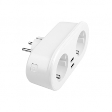 Умный сетевой фильтр Zetton на 2 розетки + 2 USB вых.10А + 2,4А ZTSHSPS2S2U10A1RU (белая)
