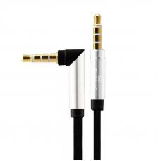 Аудиокабель Earldom ET-AUX18 3,5 mm M-M(L) AUX Cable 2 Meter (черный)