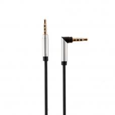 Аудиокабель Earldom ET-AUX01 3,5 mm M-M(L) AUX Cable 1 Meter (черный)