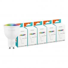 Комплект умных ламп Five Zetton LED RGBW Smart Wi-Fi Bulb GU10 5Вт