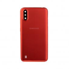 Задняя крышка для Samsung Galaxy A01 SM-A015F, красная