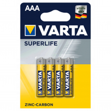 Батарейка Varta SUPERLIFE R03 AAA BL4 Heavy Duty 1.5V (2003) 4шт в блистере