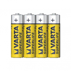 Батарейка Varta SUPERLIFE R6 AA Shrink 4 Heavy Duty 1.5V (2006) 4шт в пленке