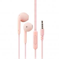 Гарнитура Music U19 3,5 мм. вкладыши, розовая (европакет)
