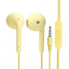 Гарнитура Music U19 3,5 мм. вкладыши, желтая (европакет)
