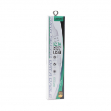 USB кабель LDNIO LS371 6G разъем Apple 8 pin (белый/коробка)