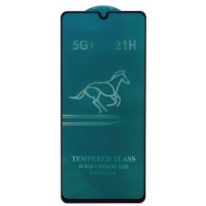 Защитное стекло полное для Samsung Galaxy A41 (A415F) (HORSE) черное