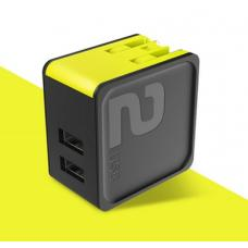 Сетевой блок питания Rock Sugar Travel Charger 2.4A 2 USB (US) (black)