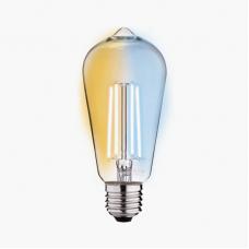 Умная лампа Zetton LED Smart Wi-Fi Bulb ST64 E27 6Вт 2200-6500К