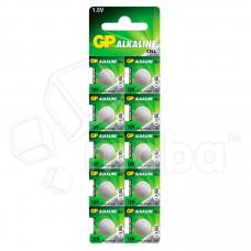 Батарейка GP 189/LR54/G10/LR1130/389A Alkaline 1.5V отрывные (10 шт. в блистере)