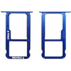 Лоток Sim-карты Huawei Honor 8 (FRD-L09) синий