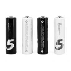 Аккумуляторные батарейки Xiaomi ZI5 AA 1800mAh 4 шт. (black and white)