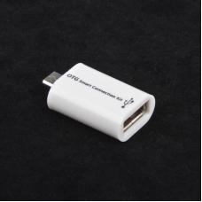 USB адаптер для устройств с функцией OTG пластиковый корпус (белый/коробка)