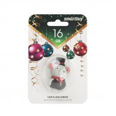 USB Flash накопитель Smartbuy Новогодняя серия Мышка 16GB 2.0