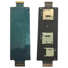 Шлейф коннектор Sim + карты памяти Asus Zenfone 2 5.5' ZE550ML / ZE551ML (Z008D/Z00AD)