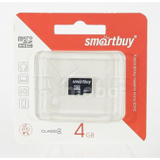 Карта памяти MicroSDHC 4GB Class 4 Smart Buy без адаптера