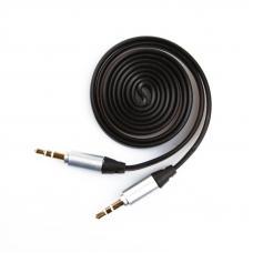 Аудиокабель плоский 1 м. (черный/европакет)