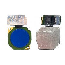 Сканер отпечатка пальца Huawei P Smart 2019/P20 Lite/Honor 8x/9 Lite/10 Lite/Nova 2i синий
