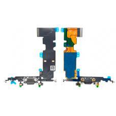 Шлейф зарядки для iPhone 8 Plus черный