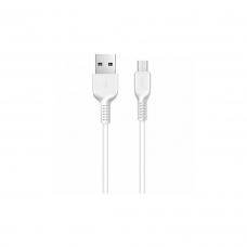 Кабель USB - micro USB HOCO X1 (1м.) белый
