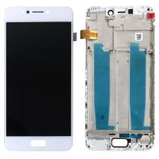 Дисплей с тачскрином Asus ZenFone 4 Max ZC520KL (X00HD) в рамке белый оригинал