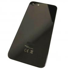 Задняя крышка для iPhone 8 черная в сборе со стеклом камеры оригинал