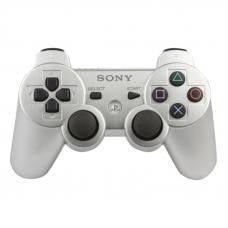 Джойстик для PS3 Dual Shock 3 (серебристый/коробка)