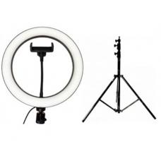 Набор: Кольцевая светодиодная лампа с держателем (25.5 см) + Штатив 210 см. (white)