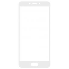 Защитное стекло полное Meizu M5C белое