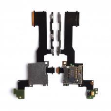 Шлейф на разъем MMC / кнопки громкости / включения HTC One M9