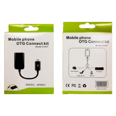 Адаптер S-K07 OTG - micro USB черный