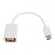 Адаптер OTG - micro USB белый