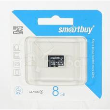 Карта памяти MicroSDHC 8GB Class 4 Smart Buy без адаптера
