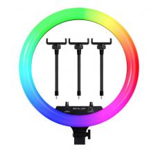 Светодиодная цветная кольцевая лампа RGB LED MJ-18 Soft Ring Light (45 см) (white)