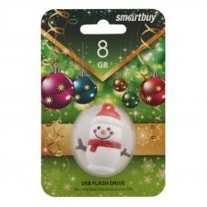 USB Flash накопитель SmartBuy Новогодняя серия Снеговик 8Гб USB 2.0