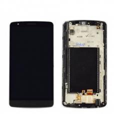 Дисплей с тачскрином LG G3 Stylus (D690) в рамке черный оригинал