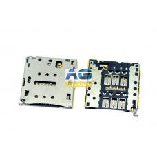 Коннектор SIM-карты (сим), mmc коннектор Huawei P7 (S123)