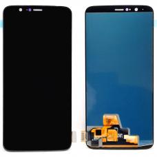 Дисплей с тачскрином OnePlus 5T черный OLED