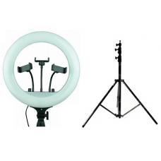 Набор: Светодиодная кольцевая лампа LED Soft Ring Light RL-14 (36 см) + Штатив 210 см. (white)
